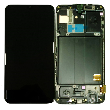 SAMSUNG A40 - LCD - Complete front + Touch Black Original