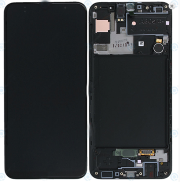 SAMSUNG A30s - LCD - Complete front + Touch Black Original