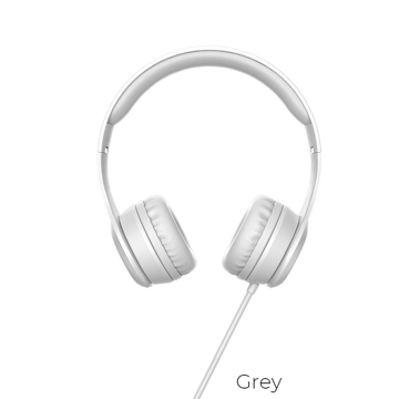 HOCO - W21 WIRED HEADPHONES 1,2m GREY