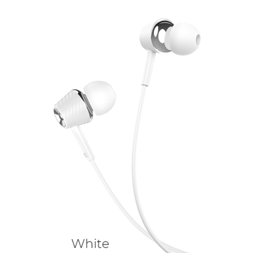 HOCO - M70 STEREO WIRED EARPHONES HANDS FREE WHITE
