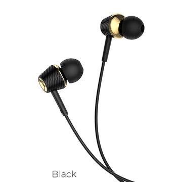 HOCO - M70 STEREO WIRED EARPHONES HANDS FREE BLACK