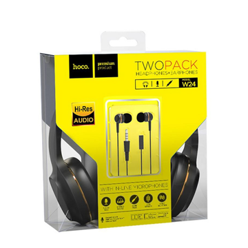 HOCO - W24 ENLIGHTEN WIRED HEADPHONES SET WITH HANDSFREE GOLD