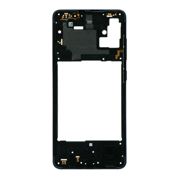 SAMSUNG Galaxy A51 - Middle cover Frame Black Original