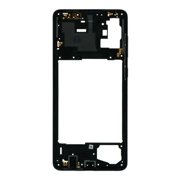 SAMSUNG Galaxy A71 - Middle cover Frame Black Original