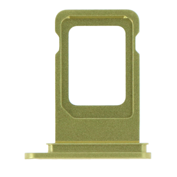 APPLE iPhone 11 - SIM Card Tray with waterproof rubber ring Yellow Original