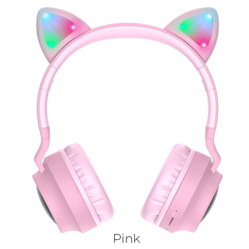 HOCO - W27 CAT EAR BLUETOOTH HEADPHONES PINK