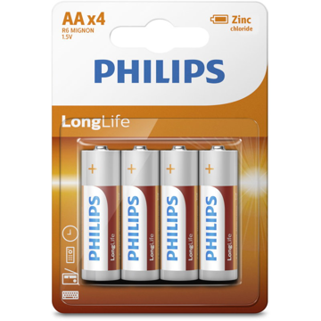 PHILIPS LR6 AA, ULTRA LONGLIFE ΜΠΑΤΑΡΙΑ  Blister 4 τεμ