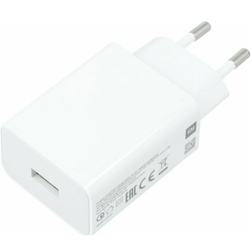 ORIGINAL TRAVEL FAST CHARGER USB 5V-9V/2Α & 12V-1,5A WHITE BULK
