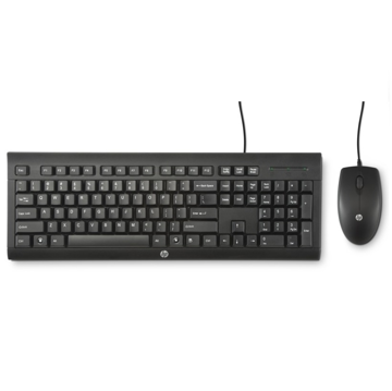 HP Wired Keyboard & Mouse C2500 Desktop
