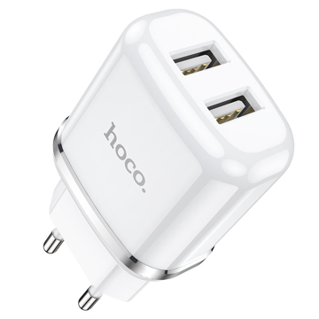 HOCO - N4 TRAVEL CHARGER DUAL USB 5V/2,4A WHITE