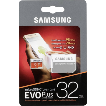 ΚΑΡΤΑ Samsung Evo Plus microSDXC 32GB U3 with Adapter