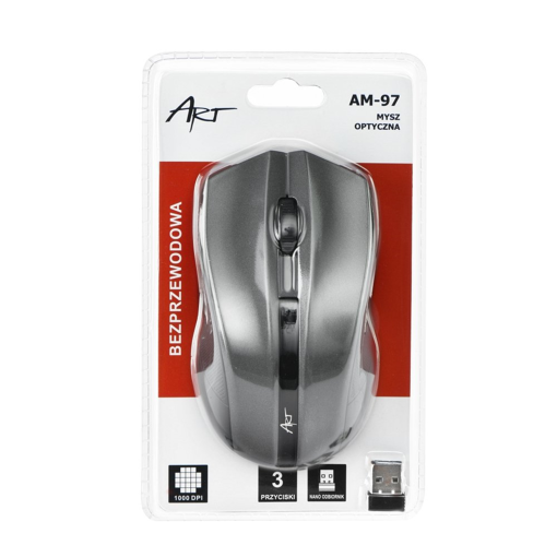 ART AM-97 Optical Wireless Mouse Silver