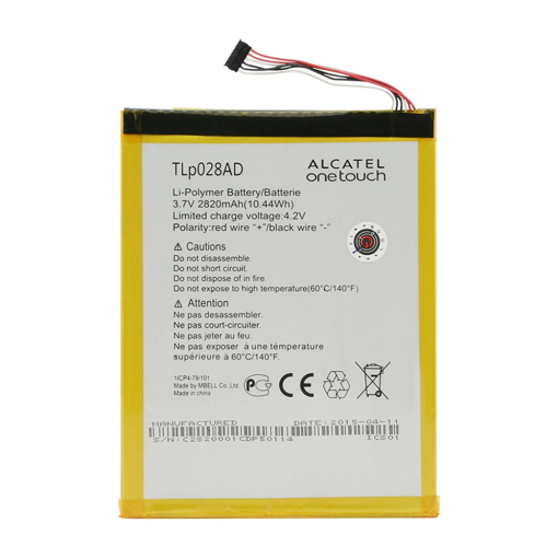 ALCATEL One Touch Pixi 7 - ORIGINAL BATTERY 2820mAh (=Tlp028AD) BULK