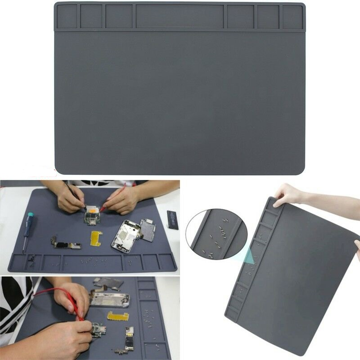Anti-Static Mat Silicone 49.5x34.5cm,  Gray