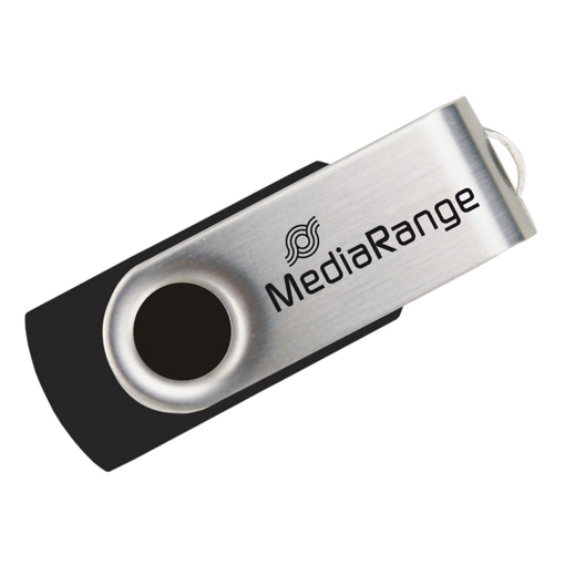 MediaRange USB Stick 2.0 MR907 4GB Black / Silver