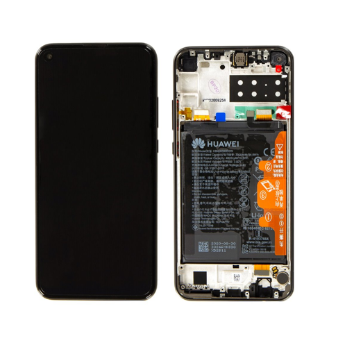 HUAWEI P40 Lite E - LCD + Touch + Frame + Battery Black Original Service Pack