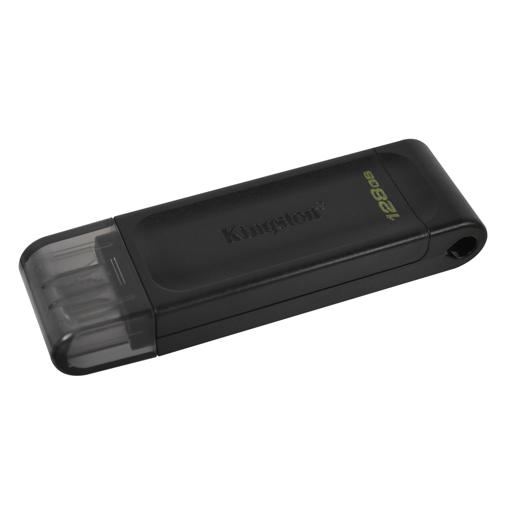 USB STICK KINGSTON 128GB, USB 3.2 GEN 1 , type C, PENDRIVE GT70 ΜΑΥΡΟ