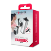 Forever bluetooth headset TWE-200 with charging case silver