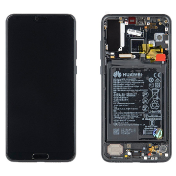 HUAWEI P20 Pro - LCD + Touch + Frame + Battery Black Original Service Pack