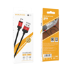 BOROFONE - BX37 WIELDY DATA CABLE microUSB 1m BLACK / RED