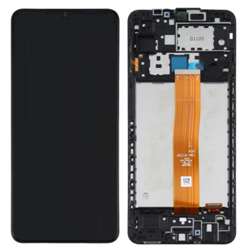 SAMSUNG A125F Galaxy A12 - LCD - Complete front + Touch Black Original