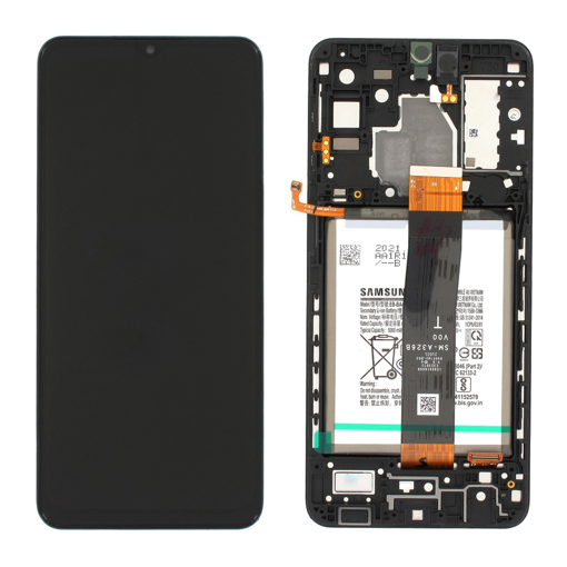 SAMSUNG A326F Galaxy A32 5G - LCD - Complete front + Touch + Battery Black Original