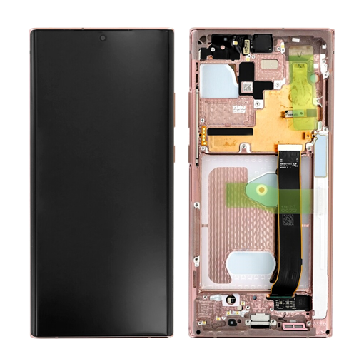 SAMSUNG N986B Galaxy Note 20 Ultra 5G - LCD - Complete front + Touch Bronze Original