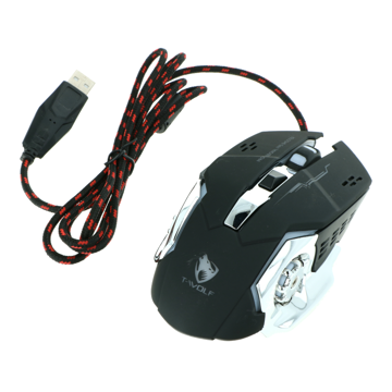 Mouse Gaming Wired T-Wolf V6 black
