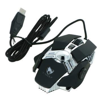 Mouse Gaming Wired T-Wolf V10 black