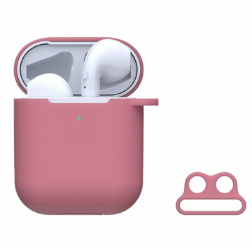 DEVIA Naked Silicone Case Suit for AirPods (with loophole) Pink
