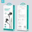 DEVIA Metal In-ear Earphone with Remote and Mic (3.5mm) WIRED EARPHONES HANDS FREE Black