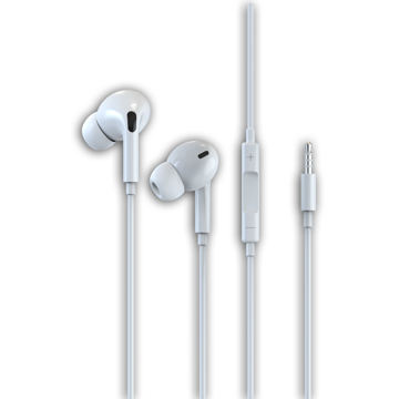 DEVIA Smart series stereo wired earphone (3.5 mm) HANDS FREE White