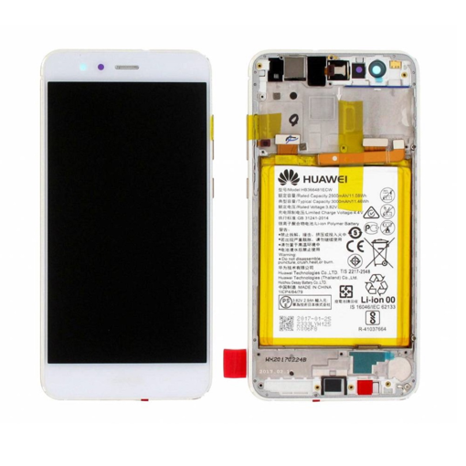 HUAWEI P10 Lite - LCD + Touch + Frame+ Battery White Original Service Pack