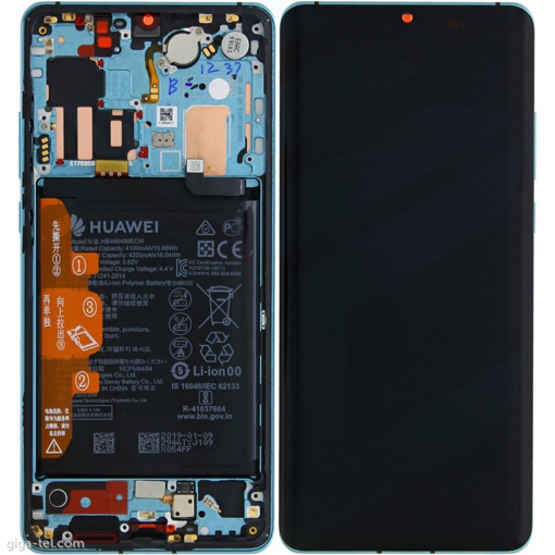 HUAWEI P30 Pro - LCD + Touch + Frame + Battery Aurora Blue Original Service Pack