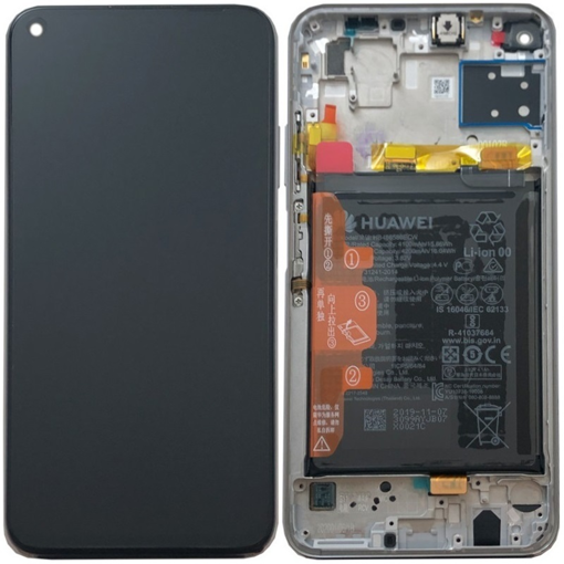 HUAWEI P40 lite / P20 Lite (2019) - LCD + Touch + Frame + Battery Breathing Crystal Original Service Pack