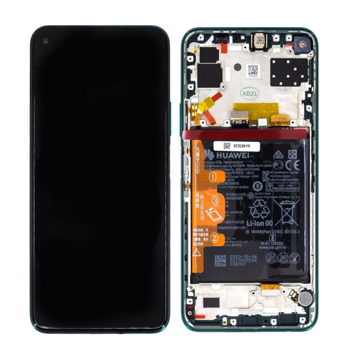 HUAWEI P40 Lite 5G - LCD + Touch + Frame + Battery Black Original Service Pack