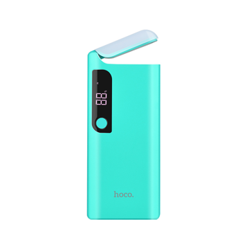 HOCO B27 POWERBANK 15000mAh 2 OUTPUTS 2A WITH LAMP BLUE
